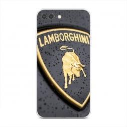 Силиконовый чехол Ламборгини значок на iPhone 7 Plus