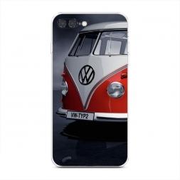 Силиконовый чехол Фольксваген хиппи на iPhone 7 Plus