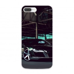 Силиконовый чехол Ауди черный на iPhone 7 Plus