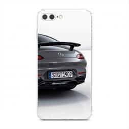 Силиконовый чехол Мерседес номера на iPhone 7 Plus