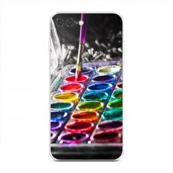 Силиконовый чехол Палитра красок на iPhone 7 Plus