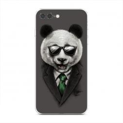 Силиконовый чехол Деловая панда на iPhone 7 Plus