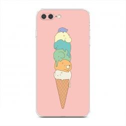 Силиконовый чехол Милое мороженое на iPhone 7 Plus