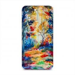 Силиконовый чехол Нарисованный лес на iPhone 7 Plus