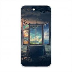 Силиконовый чехол Окно в мир на iPhone 7 Plus
