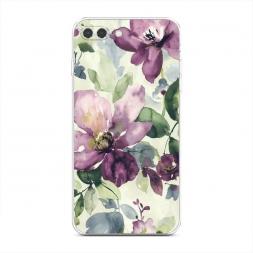 Силиконовый чехол Сиреневые цветы-акварель на iPhone 7 Plus