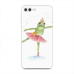 Силиконовый чехол Лягушка-балерина на iPhone 7 Plus