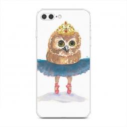 Силиконовый чехол Сова-балерина на iPhone 7 Plus