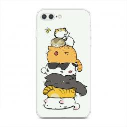Силиконовый чехол Бутерброд из котиков на iPhone 7 Plus