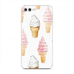 Силиконовый чехол Нарисованное мороженое на iPhone 7 Plus