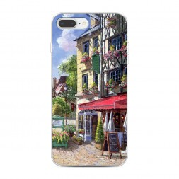 Силиконовый чехол Старая улица на iPhone 7 Plus