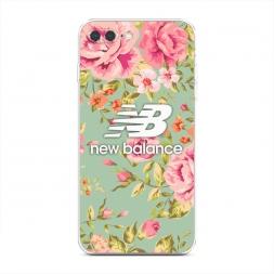 Силиконовый чехол New Balance в цветах на iPhone 7 Plus