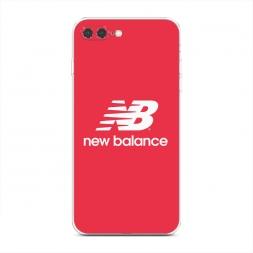 Силиконовый чехол New Balance красный на iPhone 7 Plus