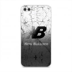 Силиконовый чехол New Balance черно-белый на iPhone 7 Plus