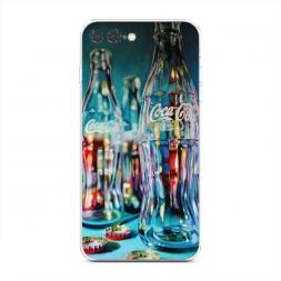 Силиконовый чехол Кока кола пустые бутылки на iPhone 7 Plus