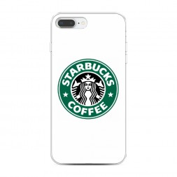 Силиконовый чехол Starbucks coffee на iPhone 7 Plus