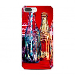 Силиконовый чехол Кока кола с трубочкой на iPhone 7 Plus