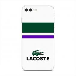 Силиконовый чехол Lacoste классика на iPhone 7 Plus