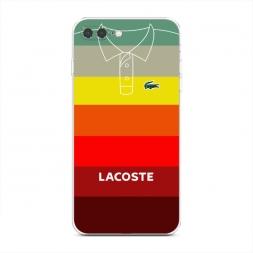 Силиконовый чехол Lacoste полосатое поло 3 на iPhone 7 Plus