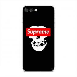 Силиконовый чехол Supreme череп на iPhone 7 Plus