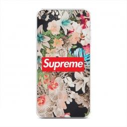 Силиконовый чехол Supreme в цветах на iPhone 7 Plus
