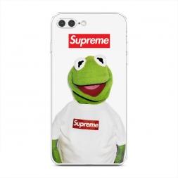 Силиконовый чехол Лягушонок Supreme на iPhone 7 Plus