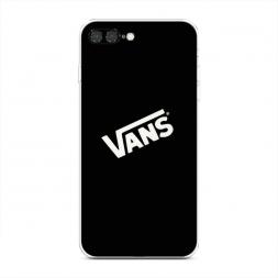 Силиконовый чехол Vans на черном фоне на iPhone 7 Plus