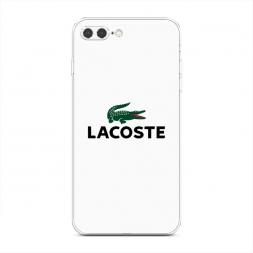 Силиконовый чехол Lacoste минимализм на iPhone 7 Plus