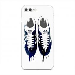 Силиконовый чехол Адидас нарисованные кроссовки на iPhone 7 Plus