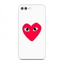 Силиконовый чехол Supreme одинокое сердечко на iPhone 7 Plus