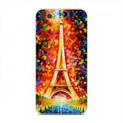 Силиконовый чехол Эйфелева башня экспрессия на iPhone 7 Plus