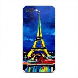 Силиконовый чехол Эйфелева башня гуашь на iPhone 7 Plus