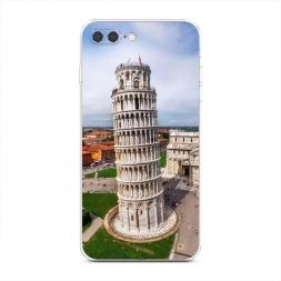 Силиконовый чехол Пизанская башня на iPhone 7 Plus