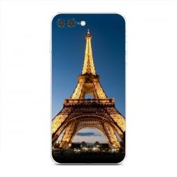 Силиконовый чехол Эйфелева башня ночью на iPhone 7 Plus