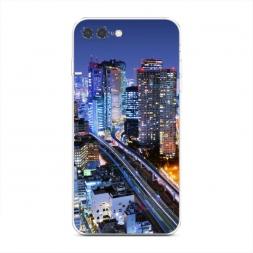 Силиконовый чехол Город не спит на iPhone 7 Plus