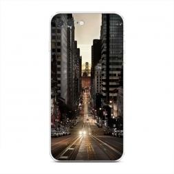 Силиконовый чехол Нью-Йорк в сумерках на iPhone 7 Plus