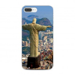 Силиконовый чехол Статуя Христа на iPhone 7 Plus