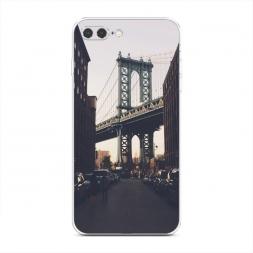 Силиконовый чехол NY city на iPhone 7 Plus