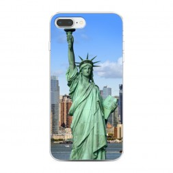 Силиконовый чехол Статуя Свободы на iPhone 7 Plus