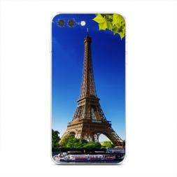 Силиконовый чехол Эйфелева башня летом на iPhone 7 Plus