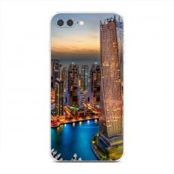 Силиконовый чехол Город высоток на iPhone 7 Plus