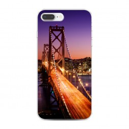 Силиконовый чехол Мост Сан-Франциско ночью на iPhone 7 Plus