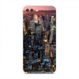 Силиконовый чехол NY вид сверху на iPhone 7 Plus