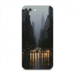 Силиконовый чехол Дождливый Нью Йорк на iPhone 7 Plus