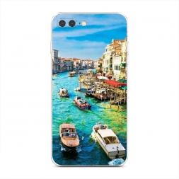Силиконовый чехол Каналы Венеции на iPhone 7 Plus