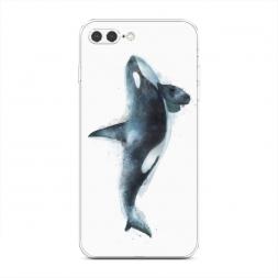 Силиконовый чехол Нарисованный кит на iPhone 7 Plus