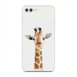 Силиконовый чехол Любопытный жираф на iPhone 7 Plus