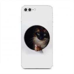 Силиконовый чехол Кошки мышки на iPhone 7 Plus