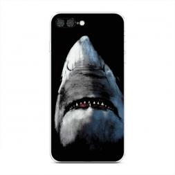 Силиконовый чехол Зубастая акула на iPhone 7 Plus