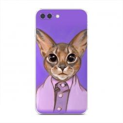 Силиконовый чехол Большеглазый кот на iPhone 7 Plus